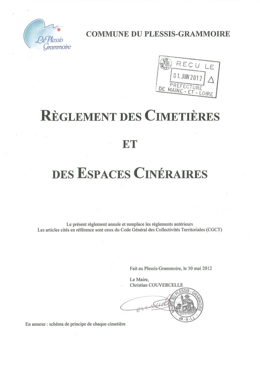Règlement cimetières