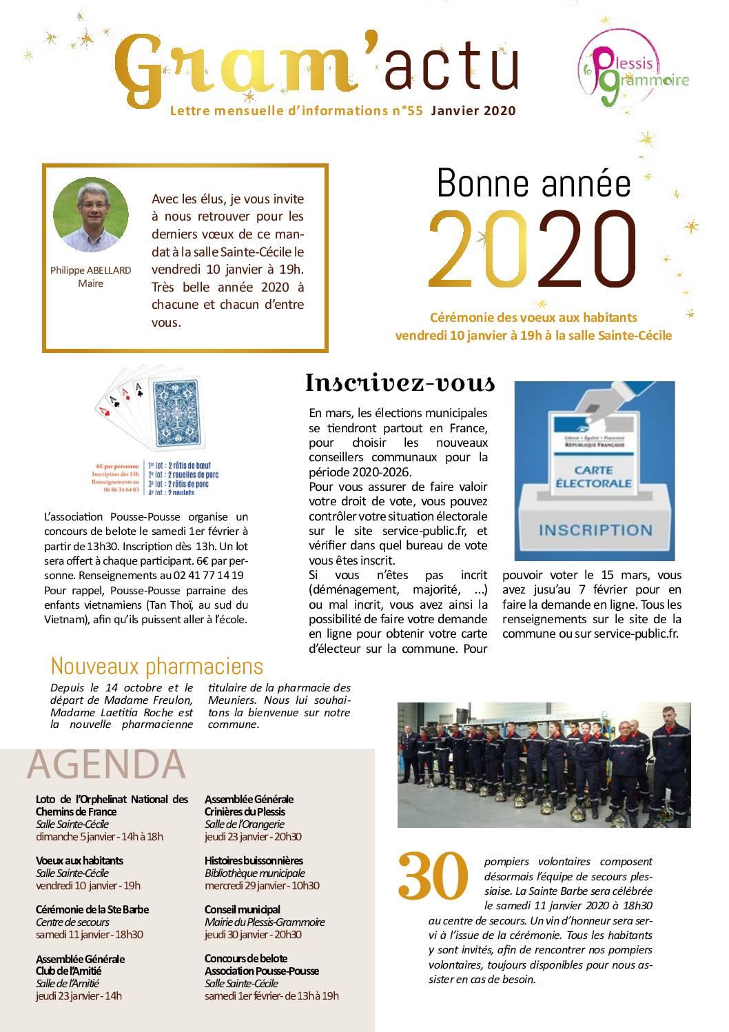 Gram'actu N°55 – Janvier 2020
