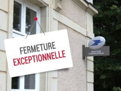 Fermeture exceptionnelle agence postale