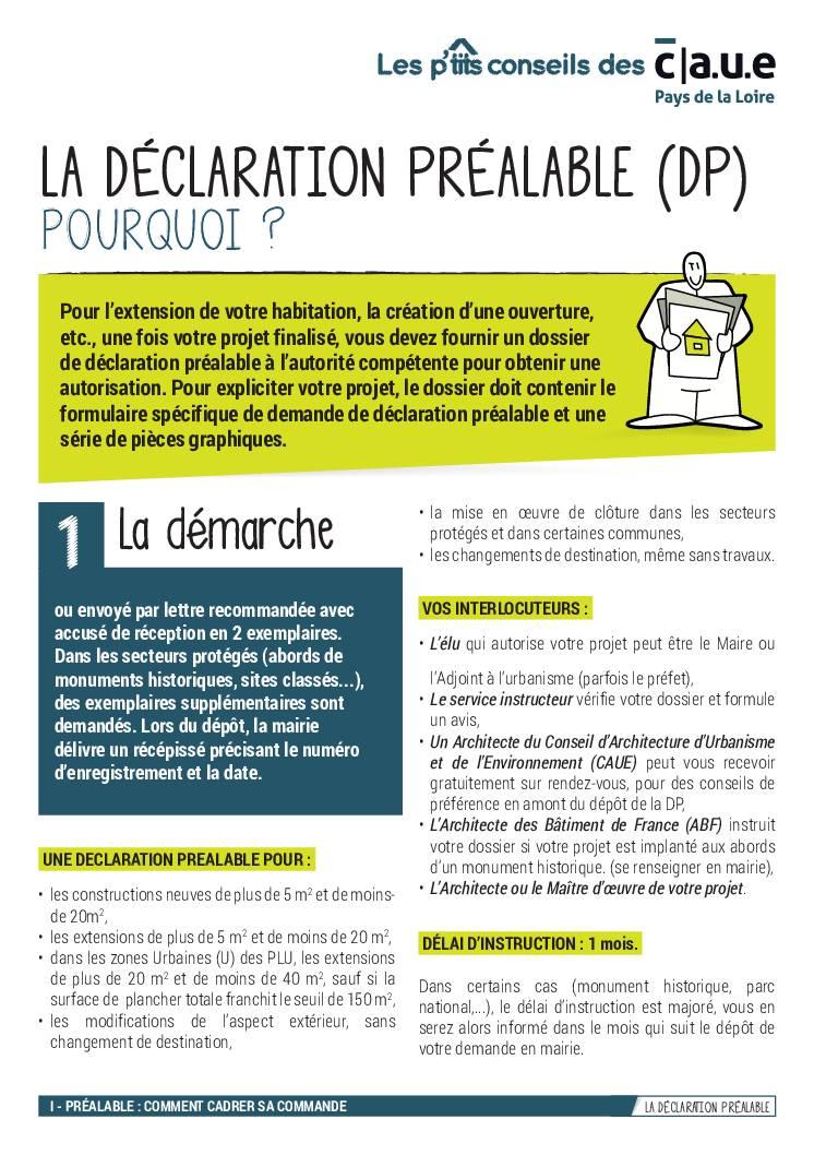 5 – La déclaration préalable (DP)