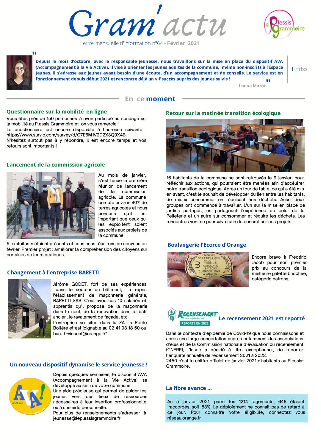 Gram'actu n°64 – Février 2021
